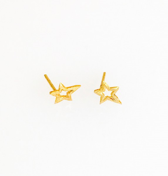 """Ohrringe """"Sterne"""" Gelbgold"""