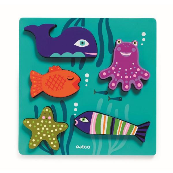 """Puzzle """"BLOP"""" Unterwasserwelt von Djeco"""