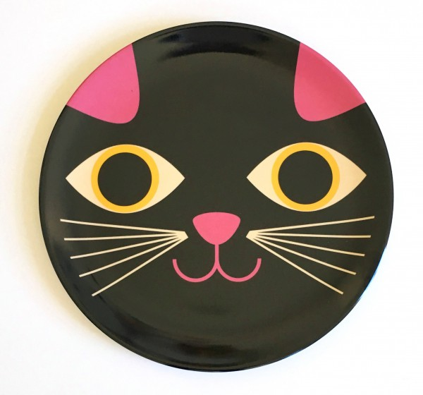 """Teller """"Katze Gesicht"""" von OMM"""