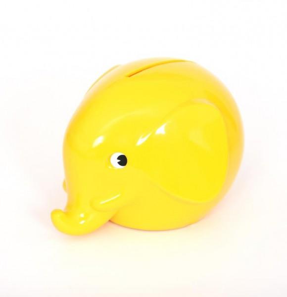 Spardose Elefant gelb