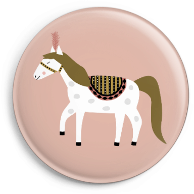 Button Zirkuspferd