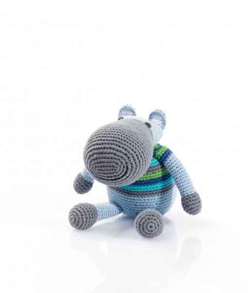 "Rassel ""Hippo"" blau von pebble"