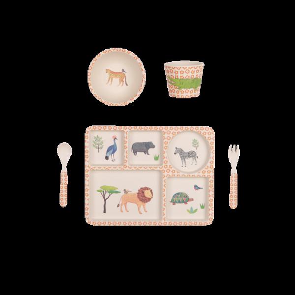 "Geschirr Set ""Safari"" aus Bambus"