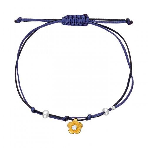 Armband mit goldener Blüte