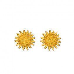 """Ohrstecker """"goldene Sonne"""""""