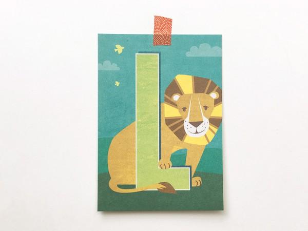 Postkarte Buchstabe L