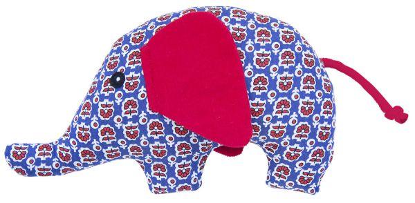 Rassel Elefant rot weiß