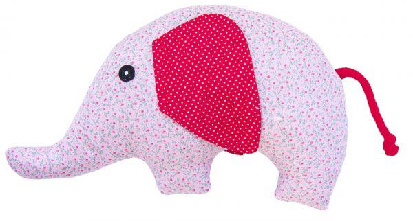 Rassel Elefant rosa Blümchen