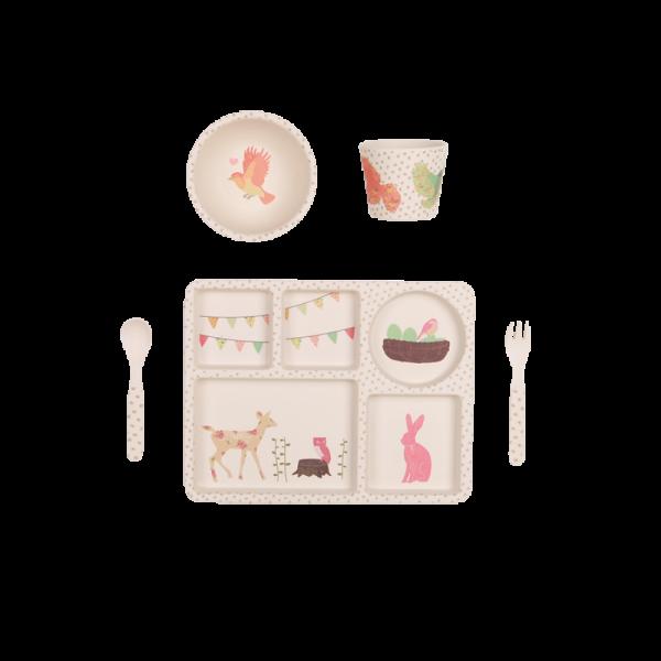 "Geschirr Set ""Tea Party"" aus Bambus"