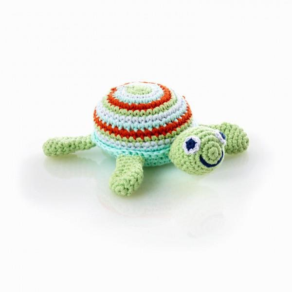 Schildkröte Rassel grün von pebble