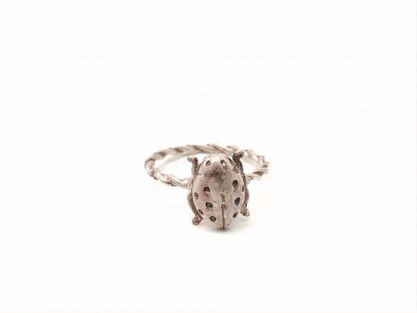 """Ring """"Marienkäfer"""" Silber"""