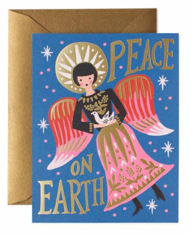 "Klappkarte ""PEACE ON EARTH"" von RIFLE PAPER"