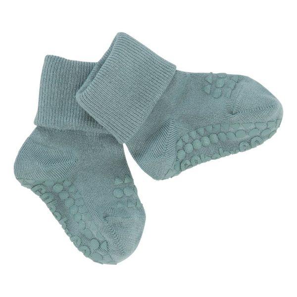 Bambus Non Slip Socks - Stoppersocken- Dusty Blue 6-12 Monate von GoBabyGo