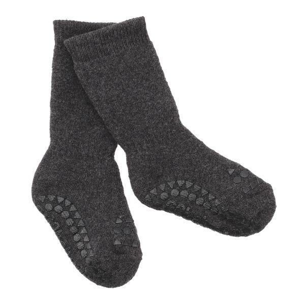 Non Slip Socks - Stoppersocken- Dark Grey Melange 3-4 Jahre von GoBabyGo