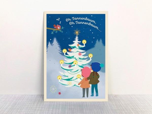 """Weihnachtskarte Kinder """"Oh Tannenbaum...""""l von Monimari"""