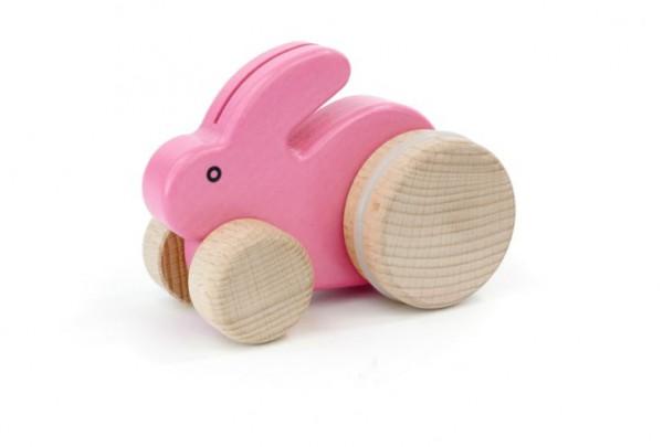 """Kleiner Hase """"pink"""" auf Rädern"""
