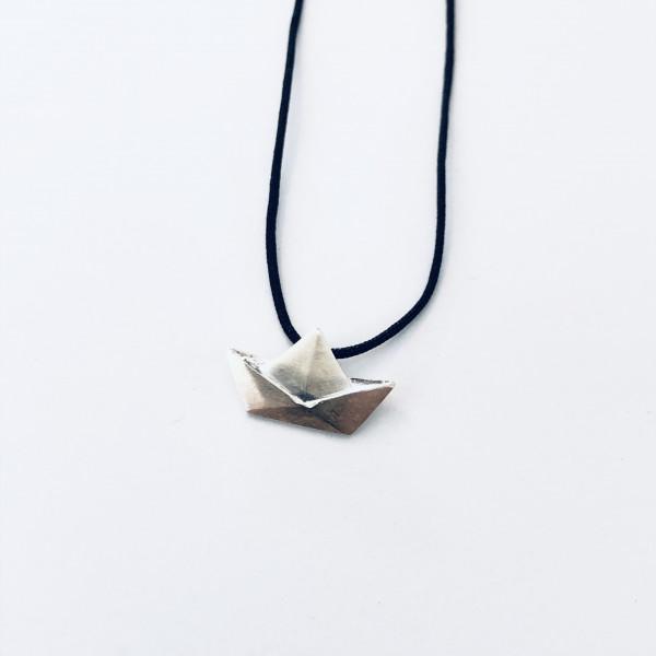 Kette Boot Silber 40cm von Onirolithi