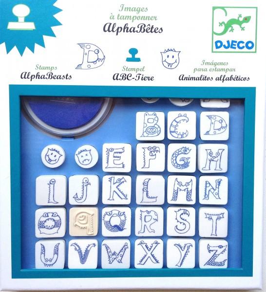 "Stempel ABC Tiere ""alpha beasts"" von Djeco"