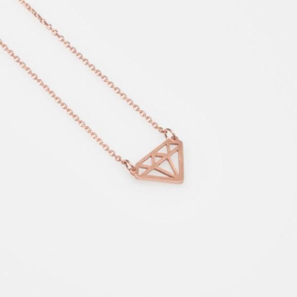 """""""Kleiner Diamant"""" Kette Rosé Gold"""