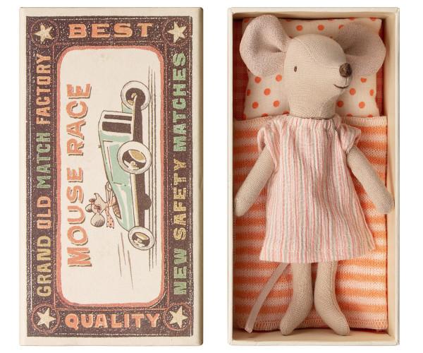 Big sister mouse in box mit Kleidchen von Maileg
