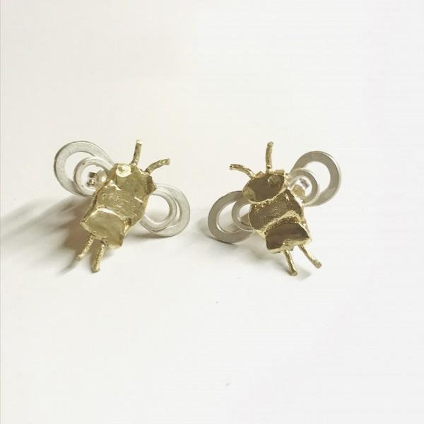 Ohrringe Bienen Unikate in Gold und Silber von Goldkind Schmuck