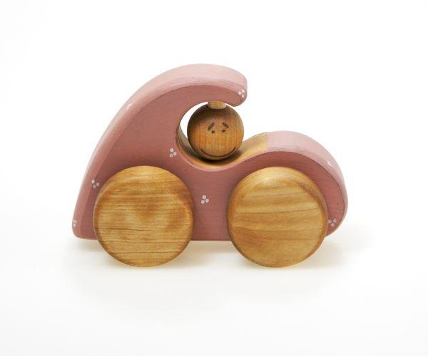 Spielzeugauto Pink car aus Holz von Friendly Toys