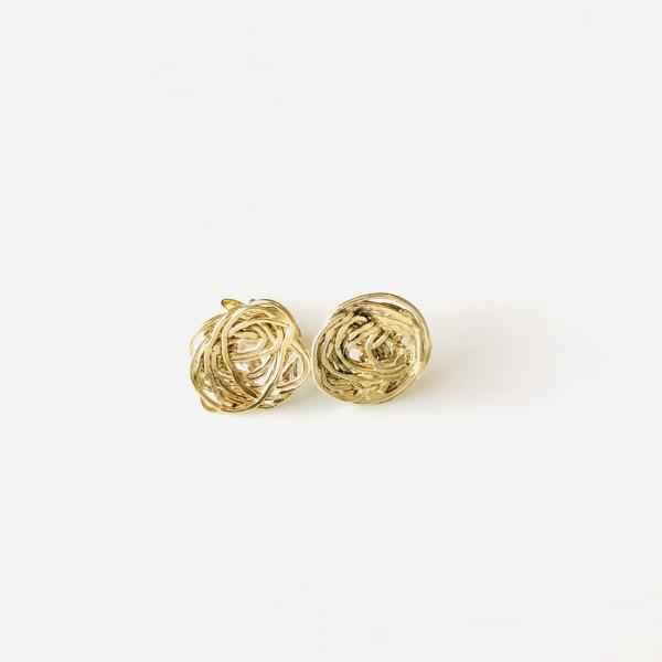 """Ohrringe """"Nest"""" aus Gold 585 von Goldkind"""