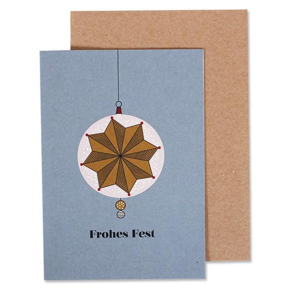 """Klappkarte """"Weihnachtskugel Stern"""" Frohes Fest von Ava & Yves"""