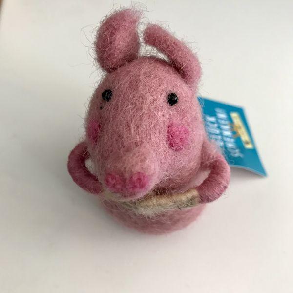 Filztier Schwein für Geld oder Gutschein