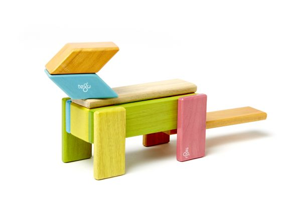 Magnetisches Holzset farbig 14 Teile von tegu