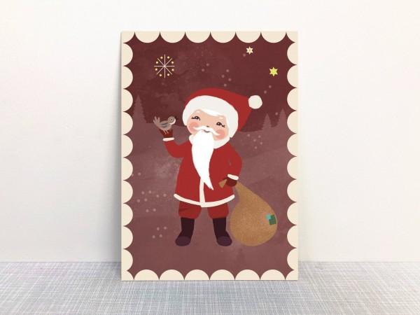 Weihnachtskarte Nikolaus von Monimari