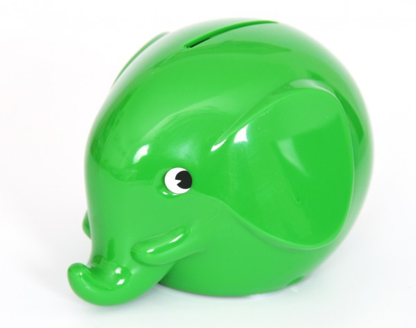 Spardose Elefant grün