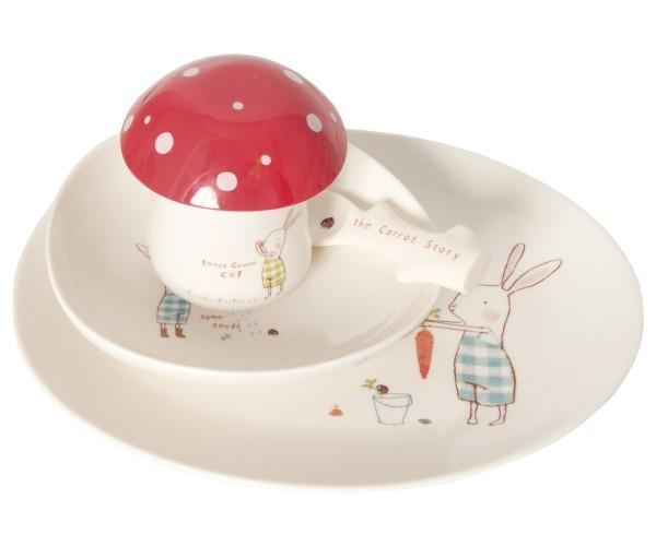 """Kindergeschirr """"Bunny Green"""" von Maileg"""
