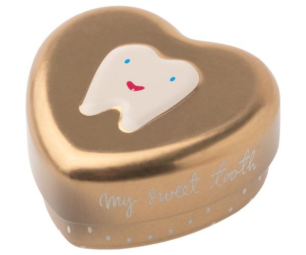 Zahndose Herz gold von Maileg