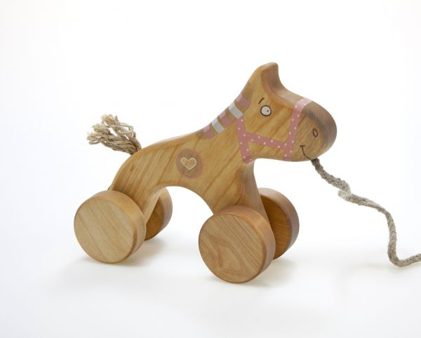 Rosa Pferdchen zum Nachziehen von Friendly Toys
