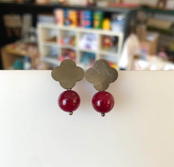 """Ohrringe """"Rot"""" mit schwarz von Goldkind"""