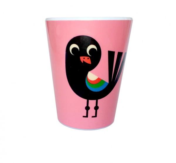 """Becher """"Vogel pink"""" von OMM Design"""
