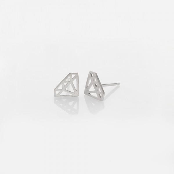 """""""kleiner Diamant"""" Ohrring Silber"""