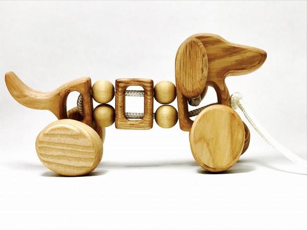 """Nachziehtier """"Hund"""" Holz Bio von Lotes Toys"""