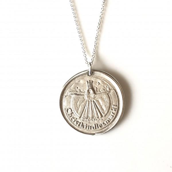 """Christkindlesmarkt Schmuck """"Siegel"""" Silber mit Silberkette von Goldkind-Copy"""