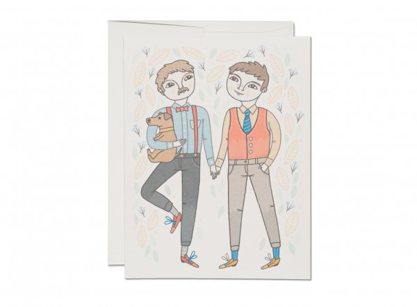 "Klappkarte ""boy wedding"" Red Cap Cards"