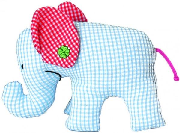 Mini Elefant blau kariert von Käthe Kruse