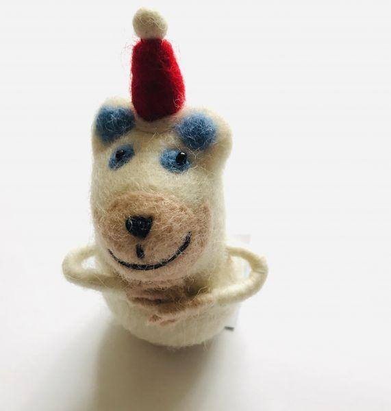 Filztier Eisbär-Weihnachten für Geld oder Gutscheine