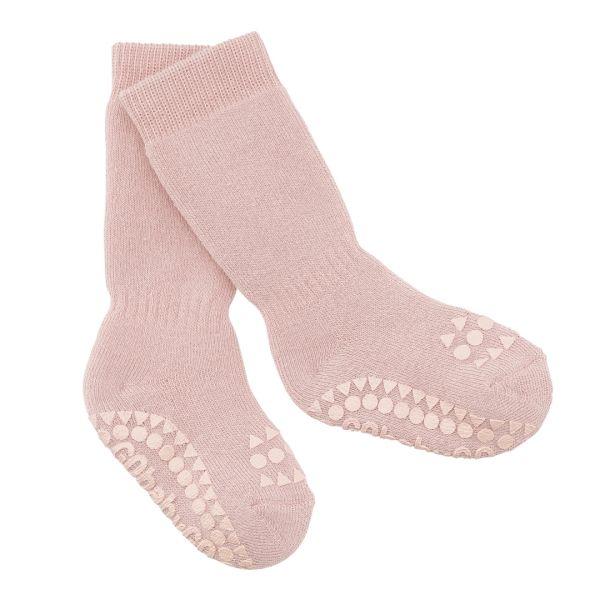 Non Slip Socks - Stoppersocken- Dusty Rose 6-12 Monate von GoBabyGo