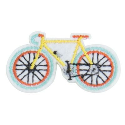 Anstecker Fahrrad gelb Global Affairs