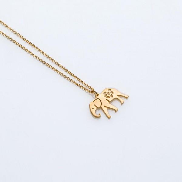 Toy Kette Elefant Gold