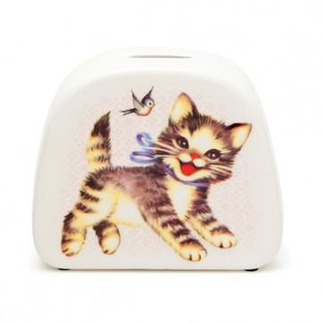 """Spardose """"Katze"""" aus Porzellan von Kitsch Kitchen"""