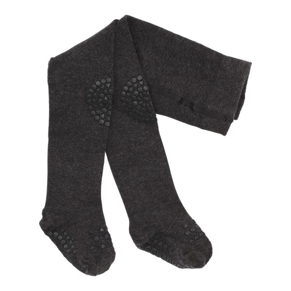 Crawling tights Strumpfhosen anti rutsch 12-18 M Dark Grey Melange BoBabyGo
