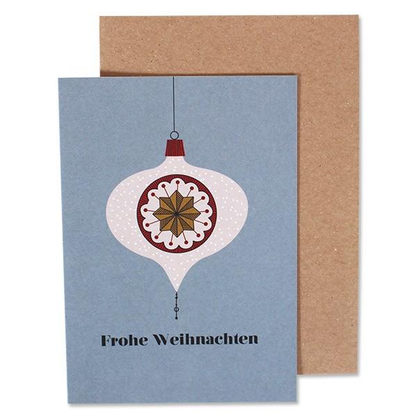"""Klappkarte """"Weihnachtskugel"""" Frohe Weihnachten von ava & yves-"""