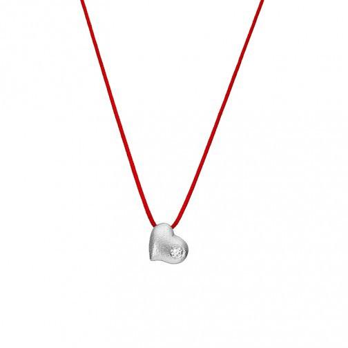 """Halskette """"Herz"""" Silber mit Edelstein"""